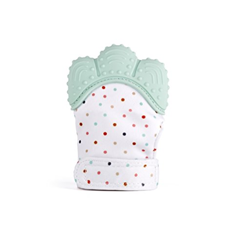 MonkeyTots Teething Mitten Baby Soother Glove – Pain Relief Remedy for Sore Gums and Cutting Teeth, Gel Applicator for Babies Mouths Suitable from 2 months to Toddler