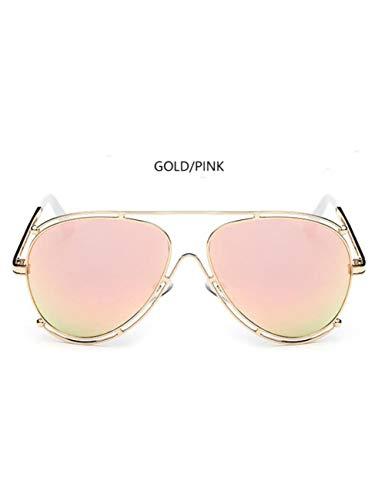 DPDH Sonnenbrillen Pilot Roségold Mode Sonnenbrillen Frauen Übergroße Doppelrahmen Sonnenbrillegold pink