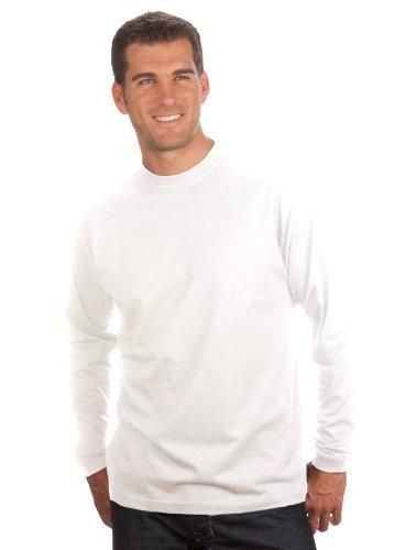 QUALITYSHIRTS Langarm Basic Shirt, Gr. XL, weiß