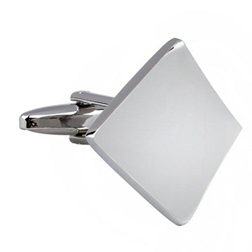 AMDXD Bijoux Laser en métal pour homme pour homme Boutons de manchette Français Boutons de manchette Mariage Forme de feuille Argenté Longueur 2.3 cm