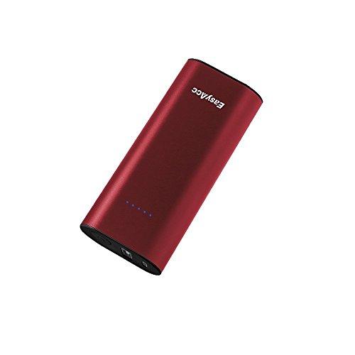 EasyAcc di 2da Gen Metallo 6700mAh Power Bank Batteria Esterna Pacchetto Portatile Caricabatteria per iPhone Samsung Smartphones - Rosso