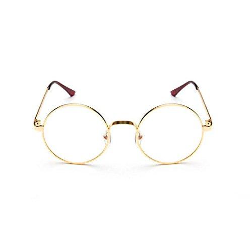 URSING Mode Unisex Frauen Klassisch Metallrahmen Sonnenbrille Runde Vintage Retro Brille Polarisiertes Licht Spiegel Objektiv Pilotenbrille Abgerundete Gläser Sunglasses Brillenmode (D)