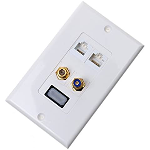 1080p 1-Puerta HDMI Placa de Cara de Pared 1080p 1-Port HDMI Hembra para Cable Panel Red
