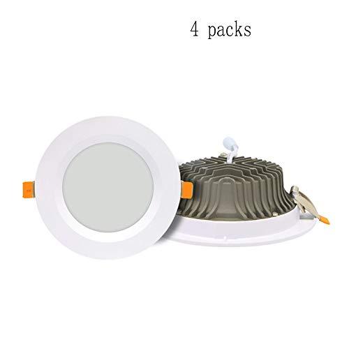 Techo Mejoras Led Luz Blanca Cálida Depaoshj Para 12w 15w En Cri80 Downlight Iluminación Empotrada El Paquete De 4 DWEH29IY