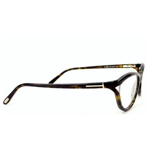 Tom Ford Montures de lunettes FT5280 Pour Femme Shiny Black 056: Tortoise / Brown