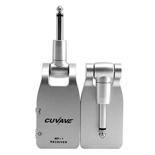 1 Paar Gitarre Wireless System 2,4 GHz Wireless Connector Wiederaufladbar elektrische Gitarre Wireless Verbindung Gerät E-Gitarre Empfänger/Transmitter mit integrierter Batterie mit großer Kapazität -