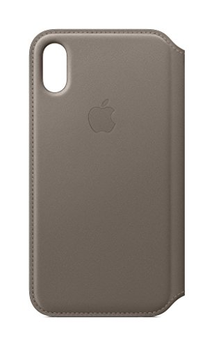 Apple Leather Folio Case for iPhone X (Taupe)