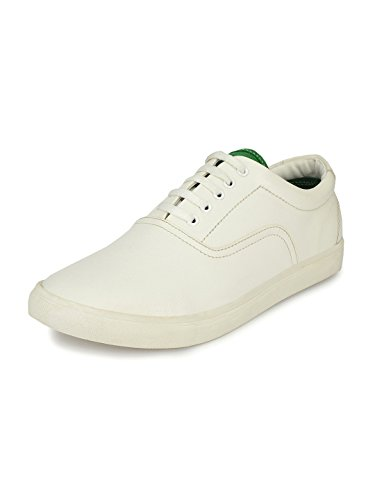 Sir Corbett Men's White Synthetic Leather Casual Sneakers (8)