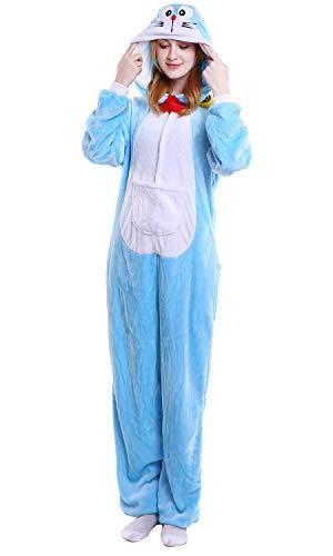 Doraemon Halloween Kostüm - YAOMEI Erwachsene Unisex Overalls, Kostüm Tier