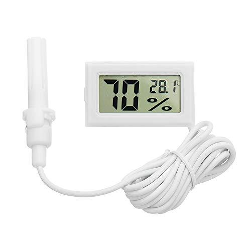 LaDicha 5 Stücke Mini LCD Digital Thermometer Hygrometer Kühlschrank Gefrierschrank Temperatur-Und Feuchtigkeitsmessgerät Weißes Ei Inkubator