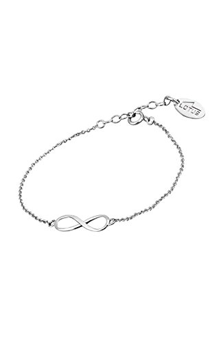 Lotus Silver - Pulsera de plata infinito -...