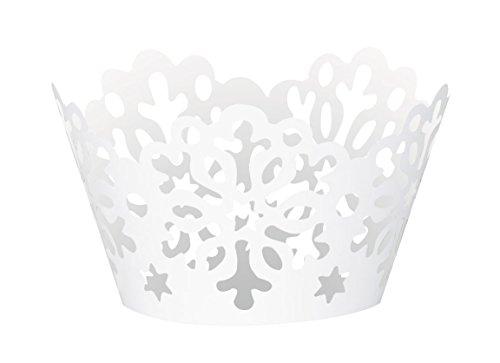 Tischdecke aus Kunststoff mit Schneeflocken Cupcake-Hüllen mehrfarbig