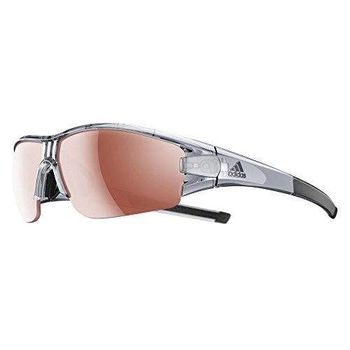 adidas Evil Eye Halfrim Brille Grey transparent Shiny/lst 2019 Fahrradbrille