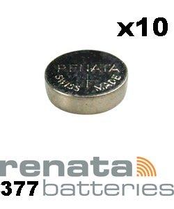 Renata SR626SW Pile 377 pour Montre Oxyde d'argent 1,55 V-Lot de 10