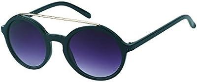 Gafas gafas de sol de espejo Chic-Net alrededor de la parte superior de metal borde Flat Top Vintage John Lennon 400UV tintados