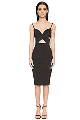 Aloura London Womens Cut Out Bodycon Dress
