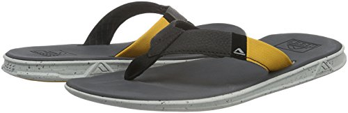 Reef Slammed Rover, Tongs Homme Multicolore - Varios colores (Black / Yellow)