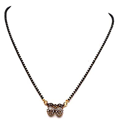 VSASA's Dazzling Light Elegant Exclusive Antique OXIDISED AAA American Diamond Studded MANGAL Sutra for Young Ladies