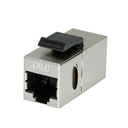 Value 21993004 RJ-45 Kupplung, Keystone, geschirmt, Kat.6 Silber -