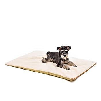 Lit chauffant pour chien,Speedy Pet Hiver Épais Polaire Faux Fourrure Coussin Chien Lit avec Anti-dérapant amovible Couverture Lavable pour Petit Moyen Grand Animal Taille L 120x75cm