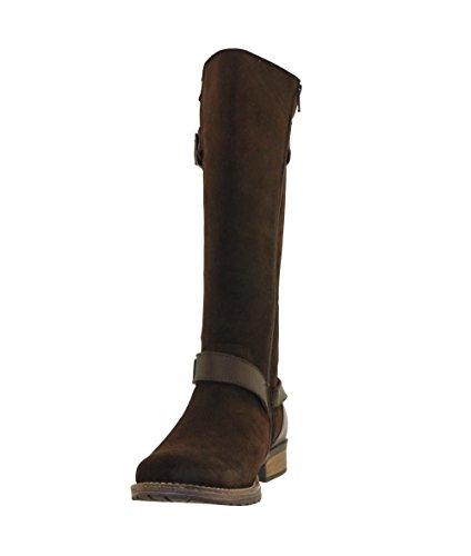 JJ Footwear Damen Stiefel Suede Galena XXL Espresso Croste Vintage
