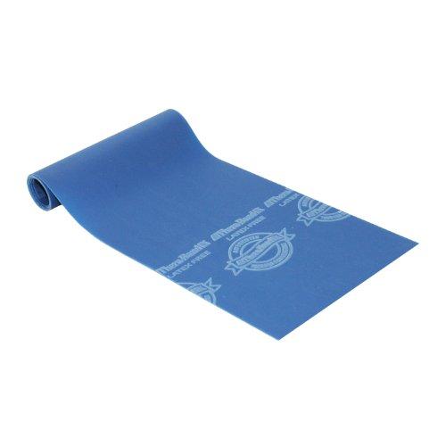 Thera-Band Übungsband / Trainingsband, latexfrei, verschiedene Spannungsgrade und Farben. Blau blau 2.5 metre