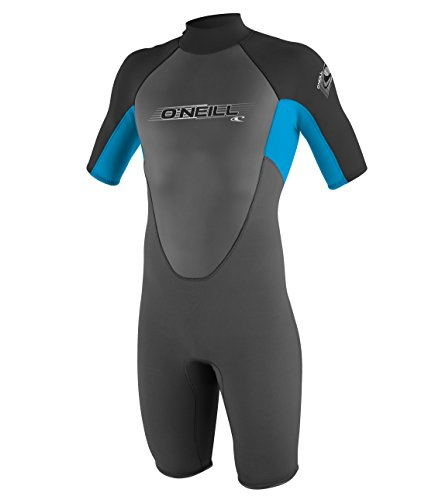 O'Neill Wetsuits Jungen Neoprenanzug Youth Reactor 2 mm S/S Spring Graphite/Tahiti/Black, 8