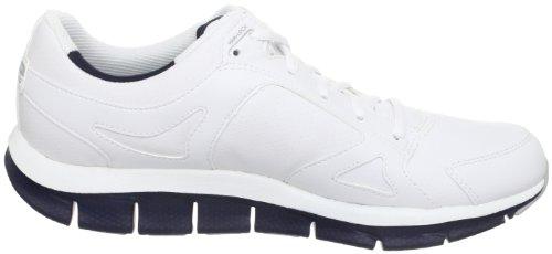 Scarpe da ginnastica Skechers per uomo in ecopelle bianca Bianco blu