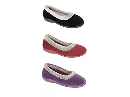 Sleepers, Pantofole donna Rosso Bordeaux Rosso (Bordeaux)