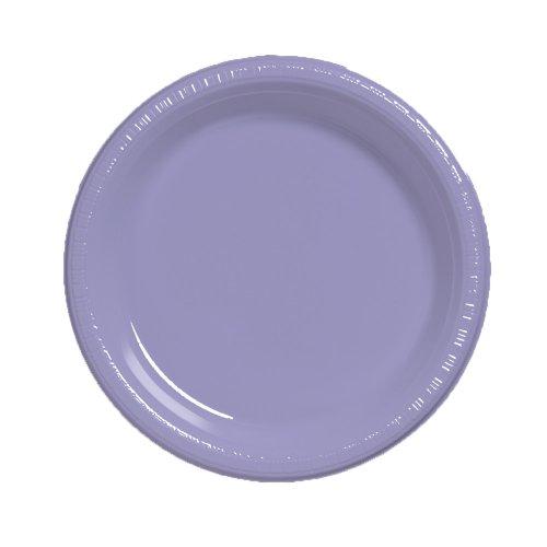 Touch der Farbe 20Zählen 26cm Kunststoff Bankett Teller Luscious Lavender ()