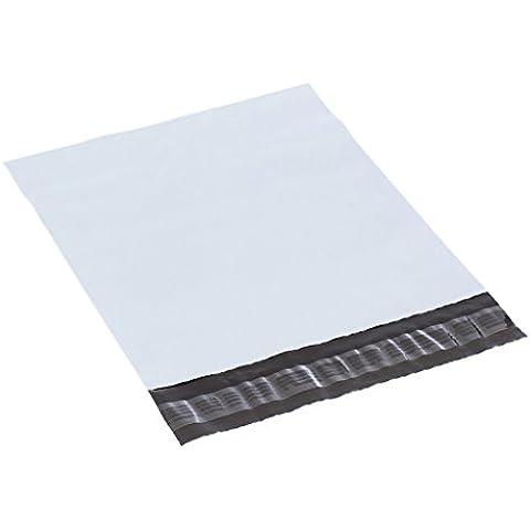 XSY Bianco Poly Mailer Busta Non-imbottito Buste Plastica Sacchetti per Postale e Spedizione Vari Taglia e Quantità 305 x 400mm+45mm - 100 Pezzi