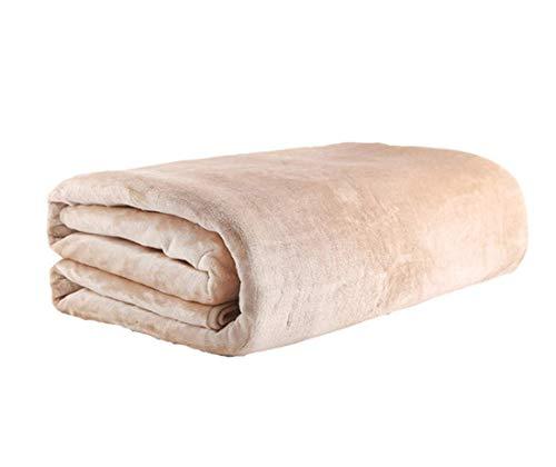 Authda Heizdecken für Bett mit Abschaltautomatik 180x200,4 TemperaturstufenWärmeunterbett Plüsch für 2 Personen für Doppelbett Fernbedienung Wärmekissen (180X120cm)