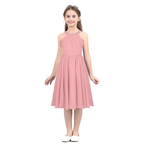 TiaoBug-Kids-Girls-Princess-Beading-Neck-Chiffon-Flower-Girl-Dress-Pageant-Prom-Dance-Ball-Party-Dress