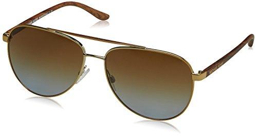 Michael kors hvar, occhiali da sole unisex-adulto, nero (gold wood 1043t5), 59