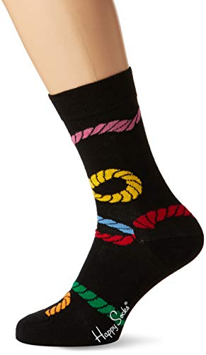 Happy Socks Unisex Rope Sock, Schwarz (Schwarz 9000), One Size (Herstellergröße: 41-46)