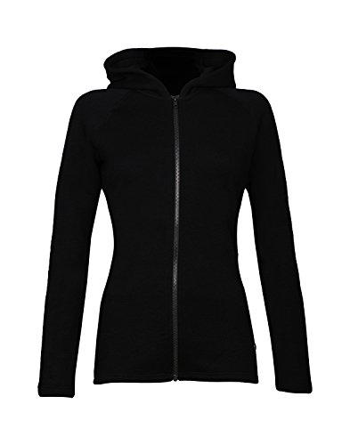 Dilling Frottee Jacke für Damen aus 100% BIO-Merinowolle Schwarz 38