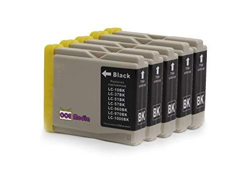 5er Set - Druckerpatronen kompatibel zu BROTHER LC-1000 | 5x schwarz | geeignet für Brother Drucker der MFC / DCP & Fax Serie