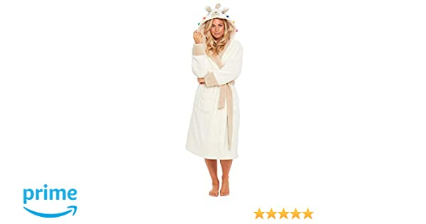 fe0e335a4c Slumber Hut® Pug Dog Fleece Dressing Gown for Ladies - Cute Novelty ...