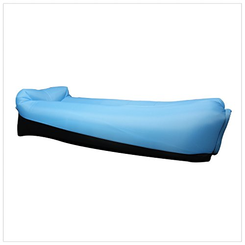 EooCoo Portable aufblasbare Sofa, Outdoor Air Sofa für Camping, Park, Strand, Hinterhof, Angeln, Schwimmen - Red