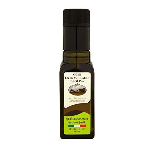 Olio extravergine di oliva italiano leccino abruzzo bottiglia 100 ml glac004