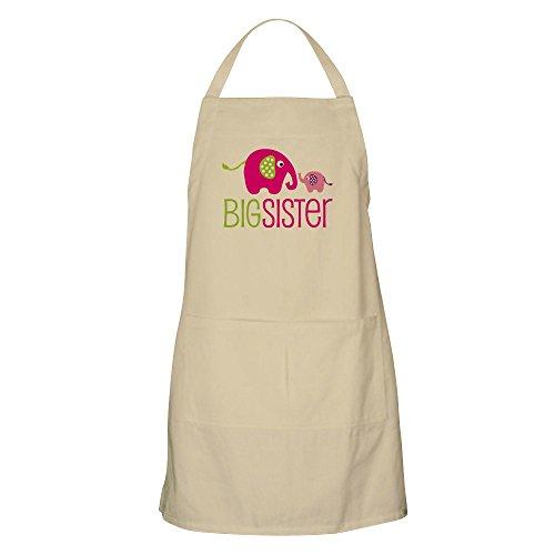 CafePress Big Sister–elefante–Delantal de cocina con bolsillos