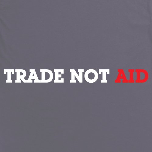 Square Mile Trade Not Aid T-Shirt, Herren Anthrazit