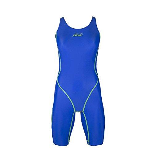 ZAOSU Wettkampf-Schwimmanzug Z-Blue für Mädchen und Damen in Blau, Größe:164