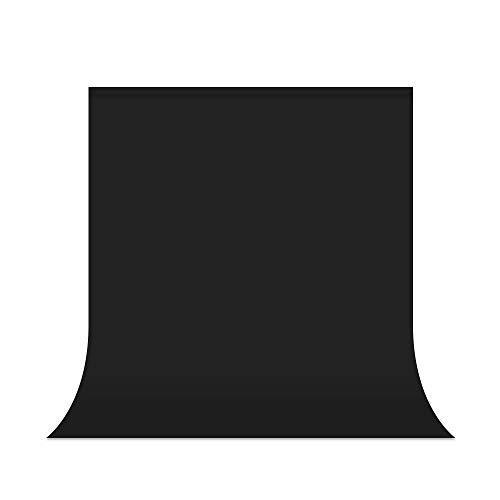 UTEBIT Fotostudio Hintergrund Schwarz 5 x 7FT Backdrops Photography Faltbare 1.5X 2M Faltenfrei Fotoshooting 100% Polyester für...