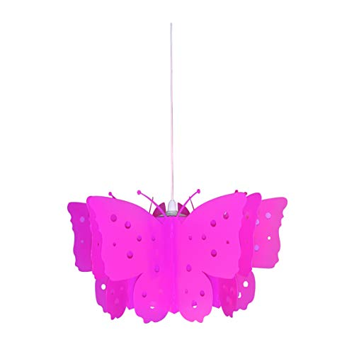 Suspension Enfant Papillons Rose Indien En Pvc