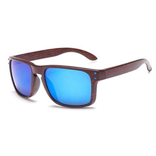 Kjwsbb Classic Mens Sunglasses Vintage Sun Glasses for Driving Black Frames Wood Grain Glasses Men Rivets Eyewear