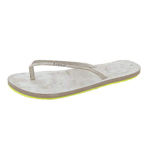 Reef Leather Uptown, Tongs Fille grey/gris