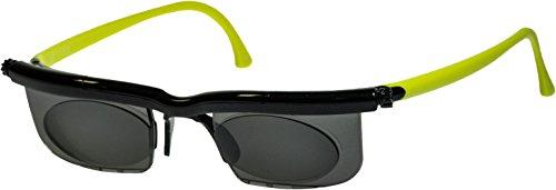 Adlens Sonnenbrille mit Sehstärke für Nah- Mittel- und Fernsichtbereich Lesebrille / schwarz grün / -1.5 Dioptrien