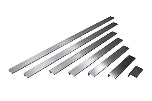 Gedotec Möbelgriffe Edelstahl Griffleiste für Küchen-Schränke - GR10031 | Bohrabstand 140 mm | Küchengriffe Aluminium rostfrei | Profilgriff zum Schrauben | 10 Stück - Schrankgriffe Alu für Schubladen