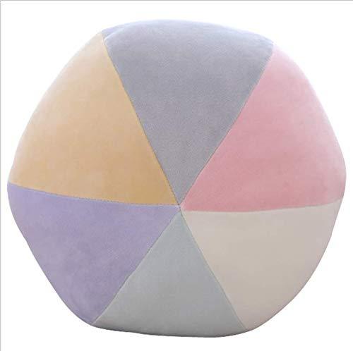 DENGLEI Nordic Cute Wind Pink Pillow Head Rainbow Cushion Pillow Girl Heart Pillow 35x35CM Candy Ball